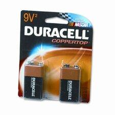 Coppertop Alkaline Batteries, 9V, 2/pack