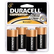 C Cell Coppertop Alkaline Battery (Set of 4)