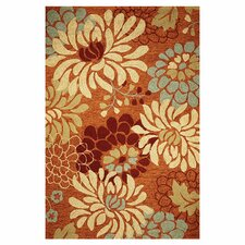 Meridian Saffron Silhouette Outdoor/Indoor Area Rug