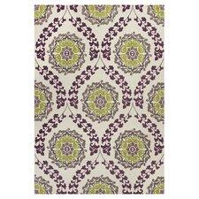 Mulberry Ivory/Plum Elegance Area Rug