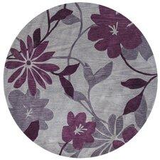 Bali Gray/Plum Elegance Area Rug