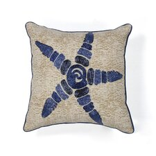 Starfish Elegance Cotton Throw Pillow