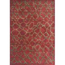 Zen Earth Red Pebbles Area Rug