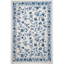 Colonial Ivory/Blue Floral Area Rug