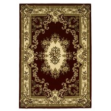 Corinthian Aubusson Red & Ivory Area Rug
