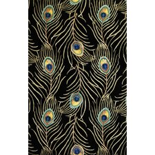 Catalina Black Peacock Feathers Area Rug