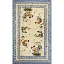 Fairfax Blue/Beige Rooster Pen Area Rug