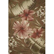 Horizon Sage Green Hibiscus Indoor/Outdoor Area Rug