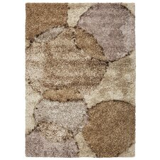 Optic Orbit Brown Area Rug