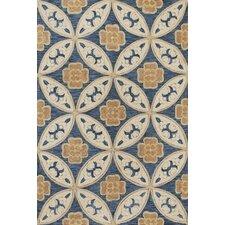 Milan Blue Mosaic Area rug