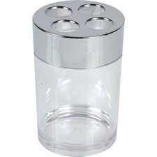Acrylic Clear Bathroom Round Toothbrush Holder