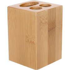 Ecobio Bamboo Square Toothbrush and Toothpaste Holder