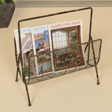Distressed Wire Magazine Rack