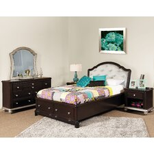 Girls' Glam Storage Panel Customizable Bedroom Set