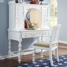 """Summer Time 50"""" Writing Desk with Optional Hutch and Chair"""