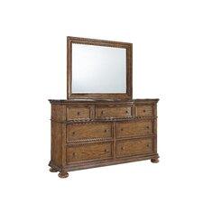 Paxton 7 Drawer Dresser with Mirror