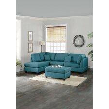 Sectional Sofa and Ottoman Set