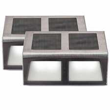 Sunstep Solar Steel Step Light (Set of 2)