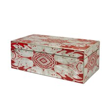 Large Reverse Painted Mirror Jewelry Box