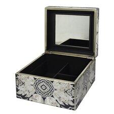 Medium Reverse Painted Mirror Jewelry Box