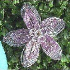 Flat Beaded Flower Napkin Ring (Set of 6)