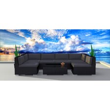 Black Series 7 Piece Deep Seating Group with Cushion