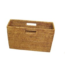 Rattan Slim Magazine Holder