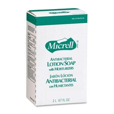 Antibacterial Lotion Soap Refill, 2000 mL, 4 per Carton, Amber