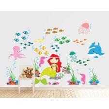 Mermaid, Under the Sea and Ocean Nursery Vinyl Reusable Wall Decal