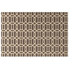 2-Piece Washable Tan and White Area Rug