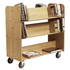 Mobile Series Sloped-Shelf Book Cart