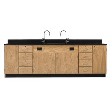 Wall Service Bench With Door and 8 Drawers