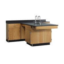 Perimeter Workstation with Sink and Fixtures Included