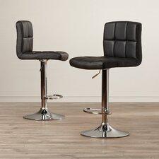 Adjustable Height Swivel Bar Stool with Cushion (Set of 2)