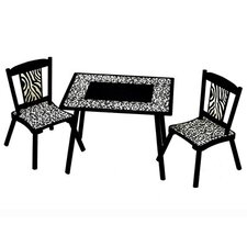 Wild Side Kids' 3 Piece Table and Chair Set