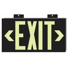 Glo Brite® Eco Plastic Molded Exit Signs - glo brite eco plastic molded exit sign bl frame