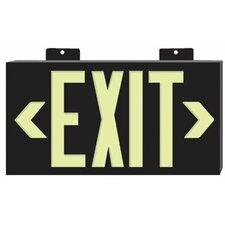 Glo Brite® Eco Plastic Molded Exit Signs - glo brite eco plastic molded exit sign wt frame