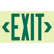 Glo Brite® Eco Unframed Exit Signs - glo brite eco framed exit signs red reflect