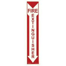 Glow In The Dark Fire Signs - fire sign  glow in the dark  peel and stick  red