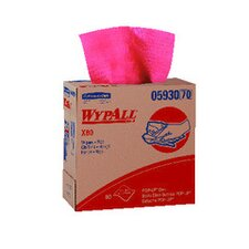 Wypall X80 Wipers Pop-Up Box, 80/Box in Red