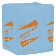 "WypAll® L40 Wipers - 12.5""x14.4"" blue q-foldwypall wiper 1-ply 56 pe"