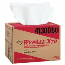 """WypAll® X70 Workhorse® Rags - 12""""x16.75"""" white workhorse 1-ply rag 150/box"""