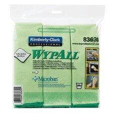 WypAll® Microfiber Cloths - c- wypall microfiber clogreen 6wpr/bg