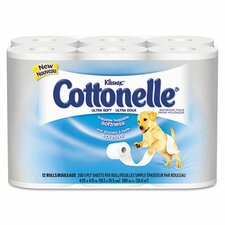 Professional Kleenex Cottonelle Ultra Soft Toilet Paper - 165 Sheets per Roll / 48 Rolls per Carton