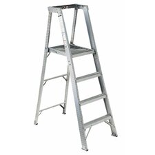16 ft Aluminum Master Platform Step Ladder with 300 lb. Load Capacity