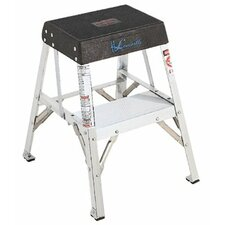 2-Step Aluminum Step Stool with 200 lb. Load Capacity
