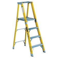 4 ft Fiberglass Step Ladder with 375 lb. Load Capacity