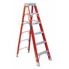 8 ft Fiberglass FS1400HD Series Brute Step Ladder with 375 lb. Load Capacity