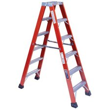 16 ft Fiberglass Step Ladder with 375 lb. Load Capacity