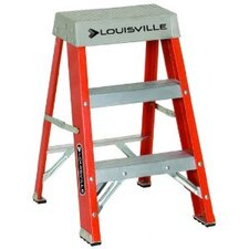 3-Step Fiberglass Step Stool with 300 lb. Load Capacity